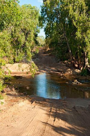 Koolpin Gorge: Water crossing