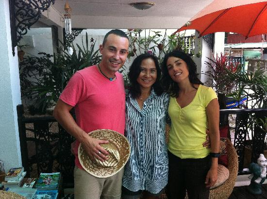 Top Garden Boutique Guesthouse: David, Thunya y Silvia