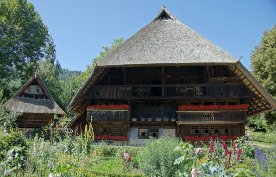 Gutach im Schwarzwald, Tyskland: Typical relocated farm building