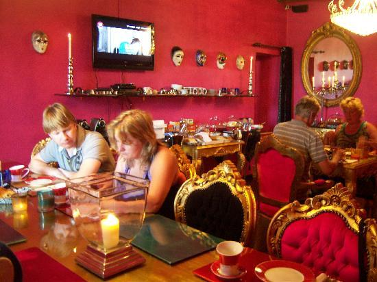 Villa Barocco: de ontbijtkamer
