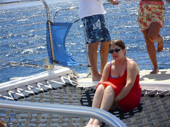 Teralani Sailing: relaxing on net