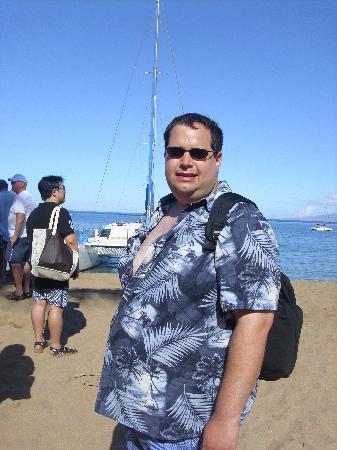 Teralani Sailing: husband about to board
