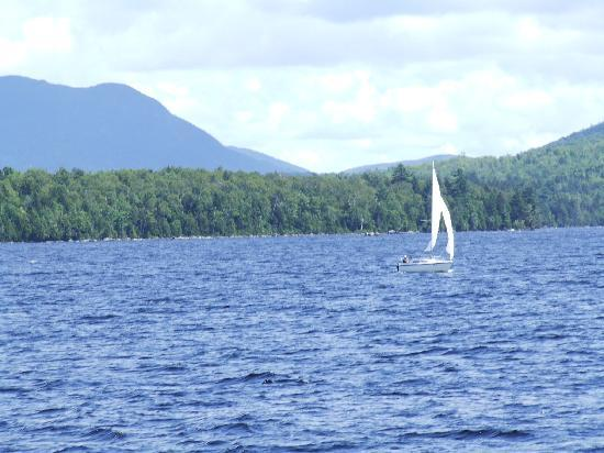 Katahdin Cruises and Moosehead Marine Museum: Moosehead Lake as seen from deck of Katahdin