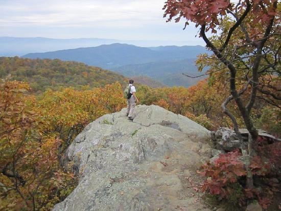 Bearfence Mountain: The summit after the rock scramble.