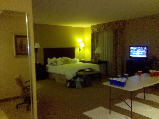 Hampton Inn & Suites Billings West I-90 : Nice, spacious suite--forget the table, it was the kid's graduation night
