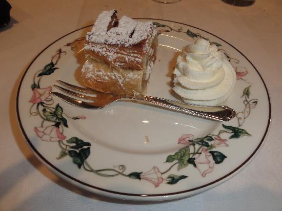Hotel Restaurant Braas: Le diner: le dessert