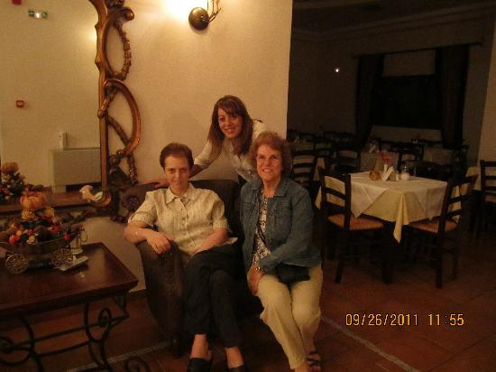 Dellas Boutique Hotel : With Olympia the receptionist and Mrs Dellas