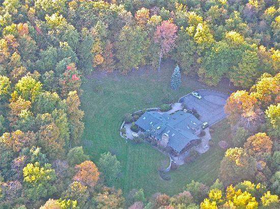The Chalet of Canandaigua: Ariel view of the Chalet from a hot air balloon