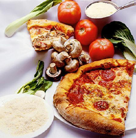 Estia Restaurant & Bar: Fresh pizza made with our own dough and pizza sauce recipes!