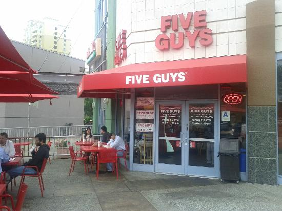 Five Guys: The outside