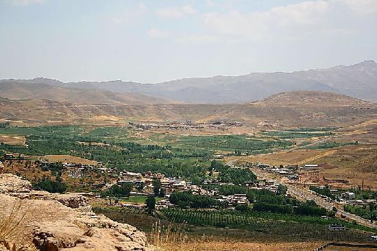 Takab, Iran: View of  Takht-e-Soleyman from Eskandar (Alexander) prison