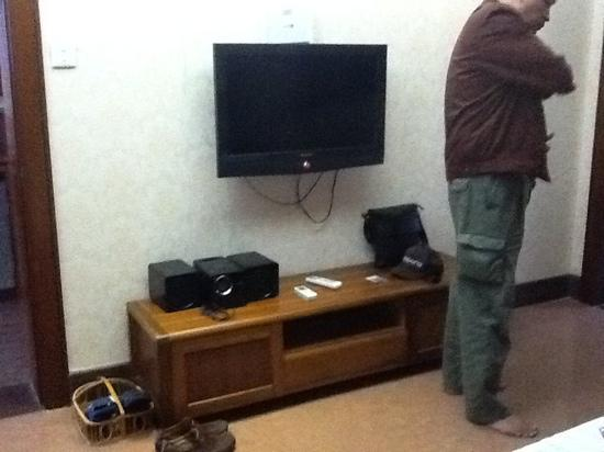 Huating Hotel Gulangyu Zhimeng: LCD tv with cable TV. ipod dock player.