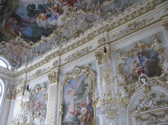 Nymphenburg Palace: a hall inside Schloss Nymphenburg