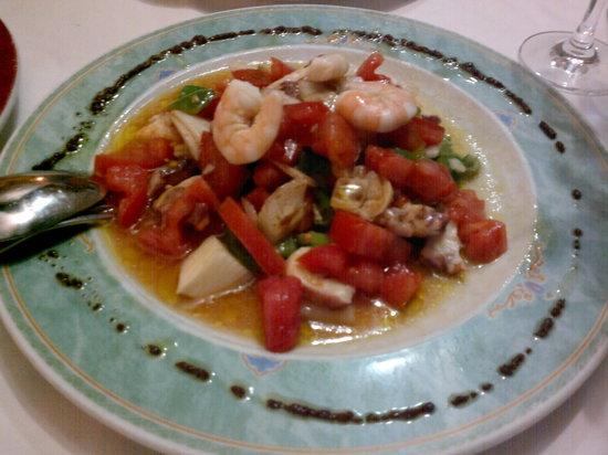 El Trillo Malaga: Prawn and Octopus Salad.