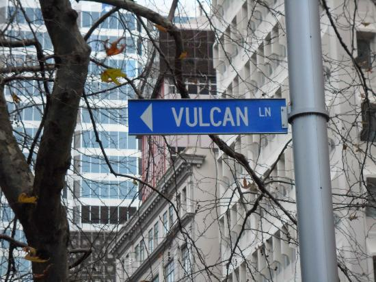 Vulcan Lane: Look for the street sign