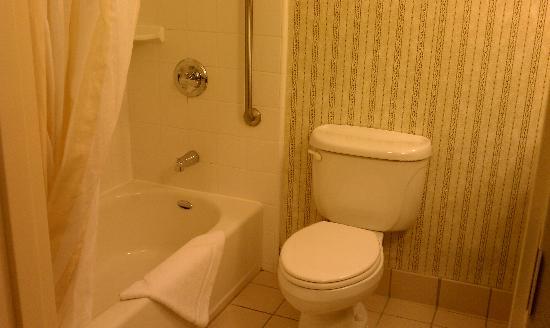 Hilton Garden Inn Calabasas: Shower/Toilet