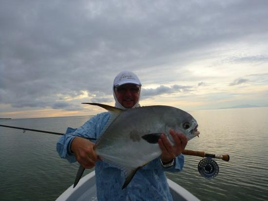 Mango Creek Lodge: permit on the fly