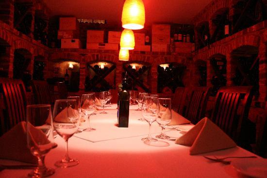 Inn at The Black Olive: Private Wine Cellar Dinning room(seats 8)