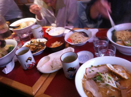 Sapporo Ramen: une partie des plats