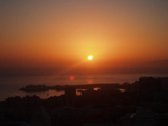 Sunset view from balcony
