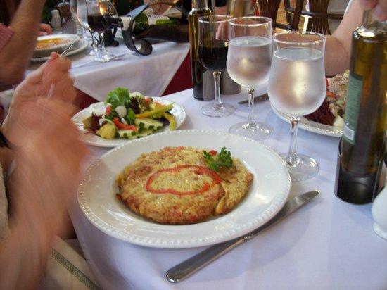 Restaurante O Tapassol Terrace: Vegitarian omelette