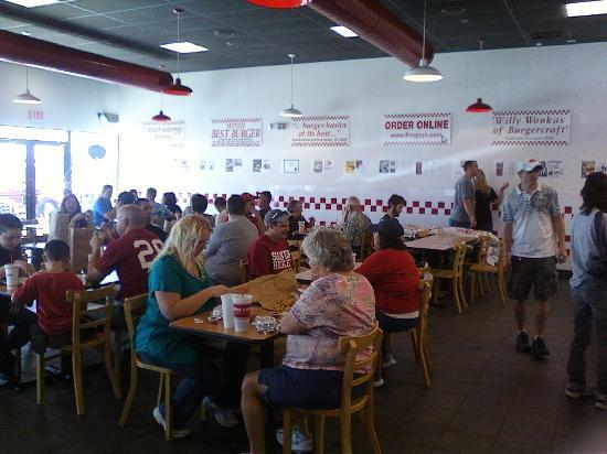 Interior of Five Guys Burgers and Fries in Moore, OK
