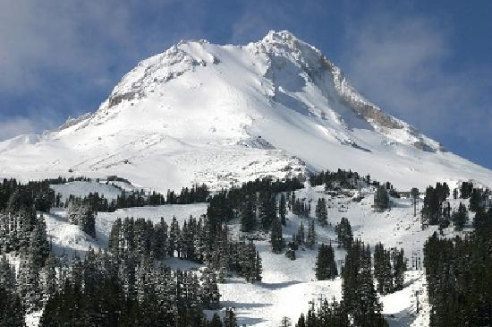 Hood River, OR : Mount Hood in Winter
