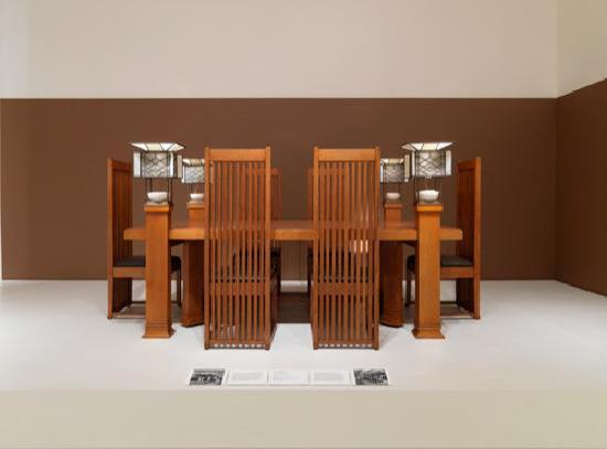 Smart Museum of Art: Frank Lloyd Wright dining set