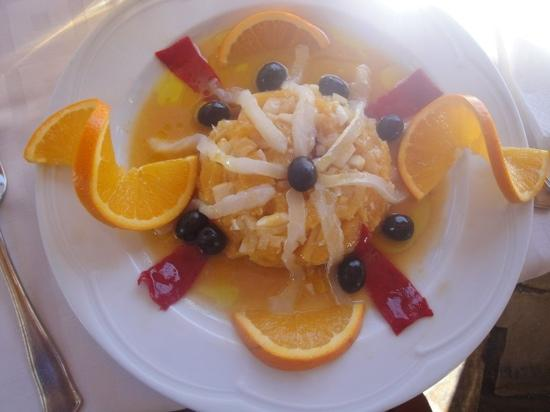 Trevelez, Spain: salt Cod and Orange salad
