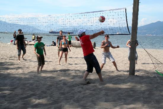 Spanish Banks : Friendly game of Volleyball at Jericho Beach