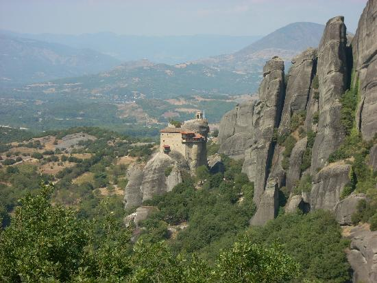 Metéora: The Monastery of Rousano is perhaps the most difficult to reach.
