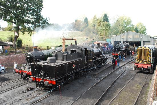 Severn Valley Railway: A busy Brdigenorth shed