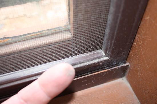 Bega Downs Motor Inn: Dirt and dust on sills & screens
