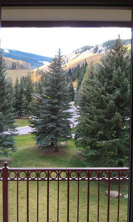 Tivoli Lodge: View from balcony of our room.