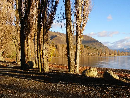 Harpers Bed and Breakfast: Autumn by the lake in Wanaka