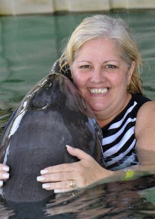 """Sea Lion Encounter at Blue Lagoon: Getting a hug from """"Andy"""""""