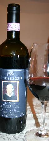 Relais Villa Grazianella - Fattoria del Cerro: The local Vino Nobile
