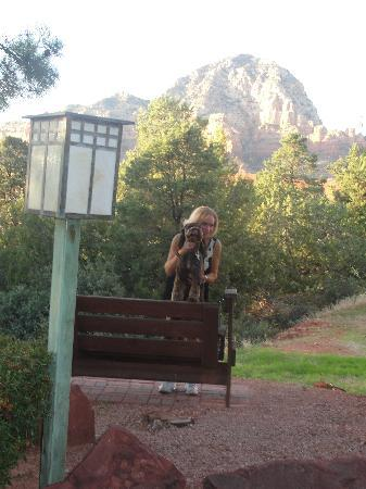 The Lodge at Sedona: Enjoying the view