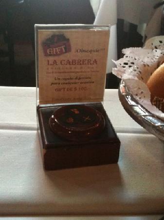 La Cabrera Sur: Timbre para el camarero