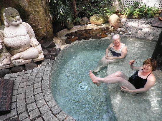 Relaxing in the plunge pool picture of buddha gardens for Garden plunge pool uk