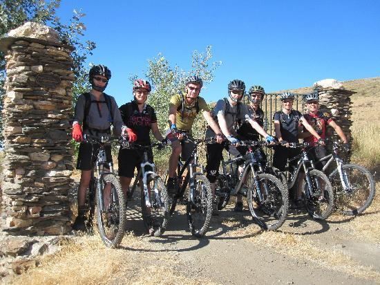 Pure Mountains: Mountain Bikers at Farmhouse Gates