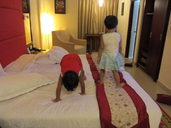 The Ashapurna Hotel: our twins in the room