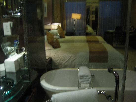 New Century Grand Hotel: The room as seen from inside the bath
