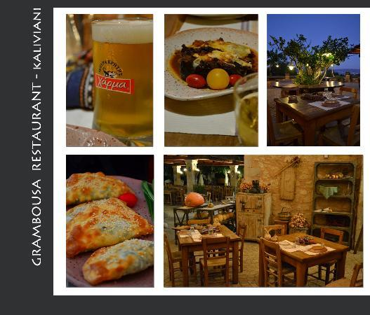 Kaliviani Traditional Hotel: You simply, can't miss this restaurant, just round the corner from Traditional Rooms Hotel