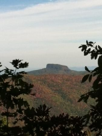 Homestead Inn: Table Rock Mtn viewed from Chetola Trail 10-8-11