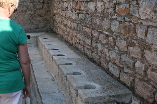 Ephesus Expert - Day Tours: Roman Toilets that had running water