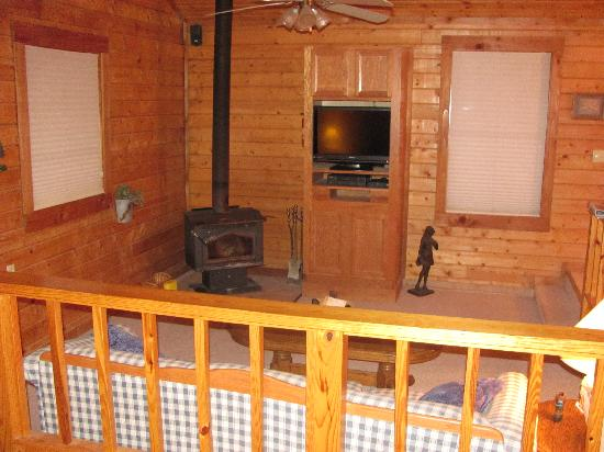 Hidden Valley Guest Ranch: Isnt the wood stove awesome?