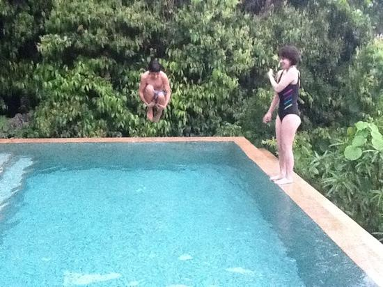 Four Seasons Resort Seychelles: my son and daughter enjoyed having a pool with our villa.
