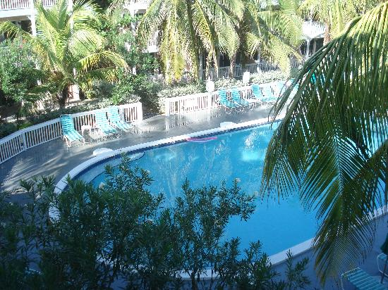 East End, Grand Cayman: view of pool from 3rd floor room