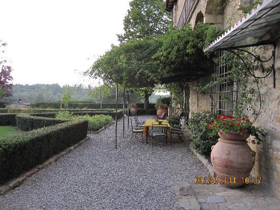 La Canonica di Cortine: the terrace in front of the villa....